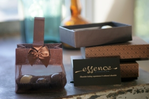 Chocolate brown gift bag with 3 truffles and 3 boxes of chocolates